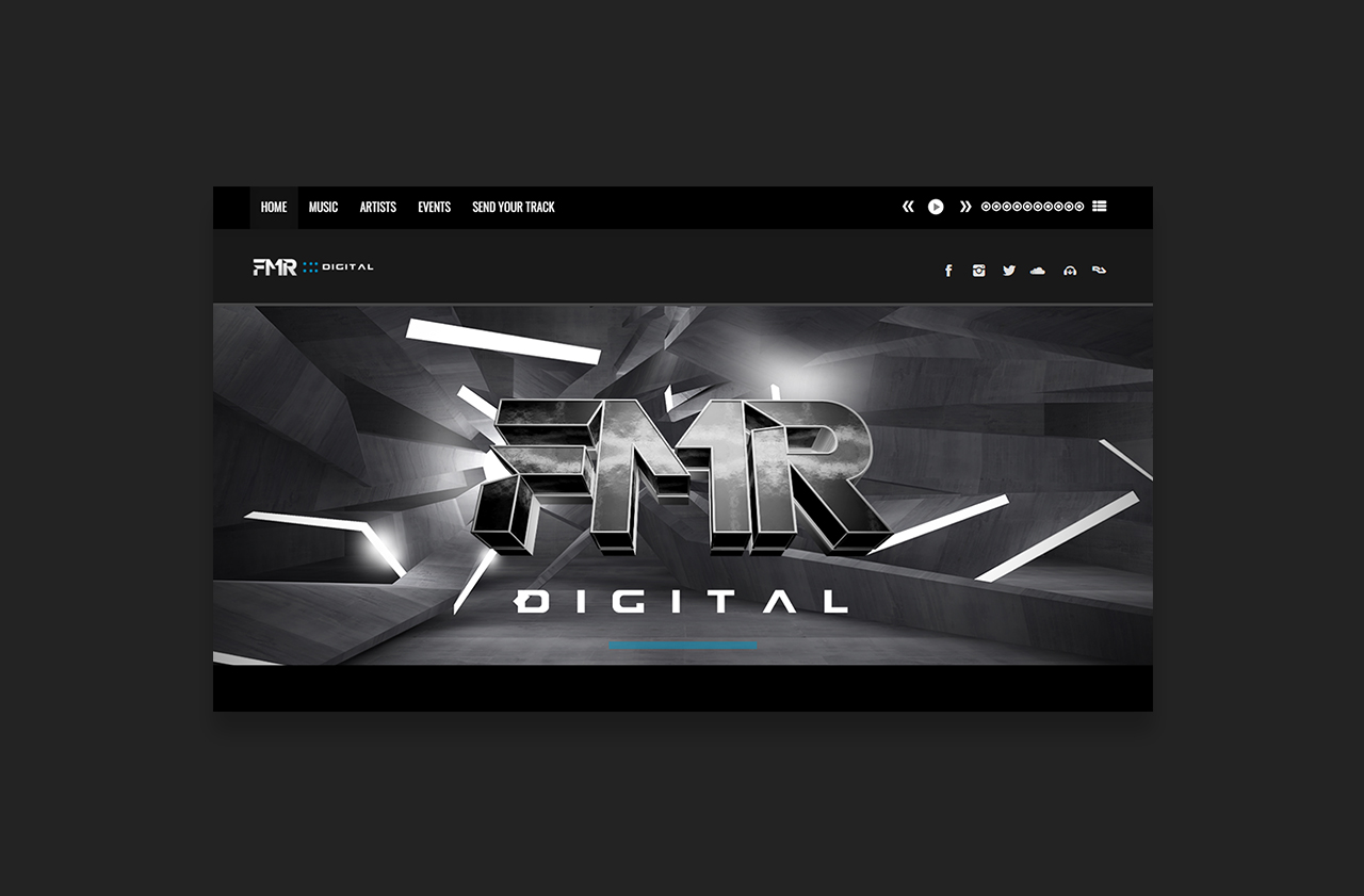 Music Lable Website FMR